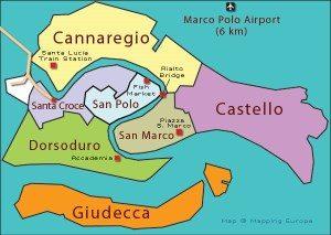 mappa quartieri venezia